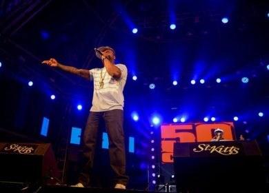 50 Cents performing at the 2016 St. Kitts Music Festival