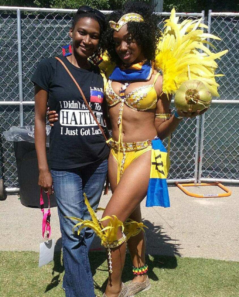 "(left) Warrior Queen Martine of the popular Atlanta ""Caribbean Runnings"" Radio show"
