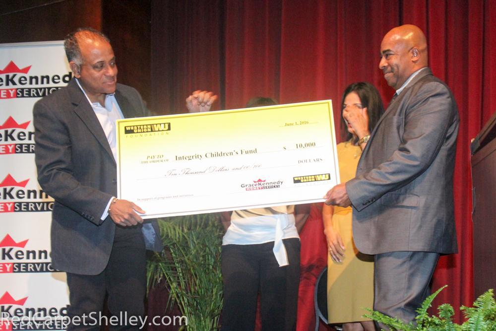 Western Union presents Children's Integrity Fund with a check for $10,000