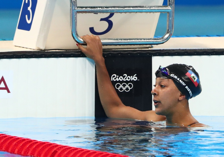 Naomy Grand-Pierre made history as the first female swimmer to represent Haiti at the Olympics