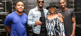 """Sean """"Diddy"""" Combs with sons Christian and Justin Combs and mother, Janice Combs (Photo Credit: Robin Lori)"""