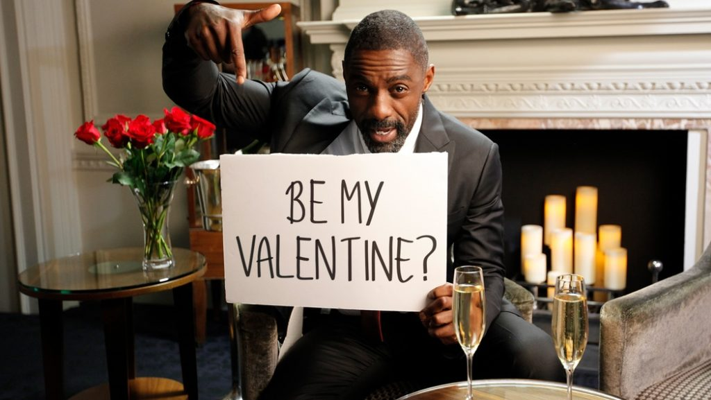 Idris Elba is looking for someone to pound his yams this Valentine's Day!