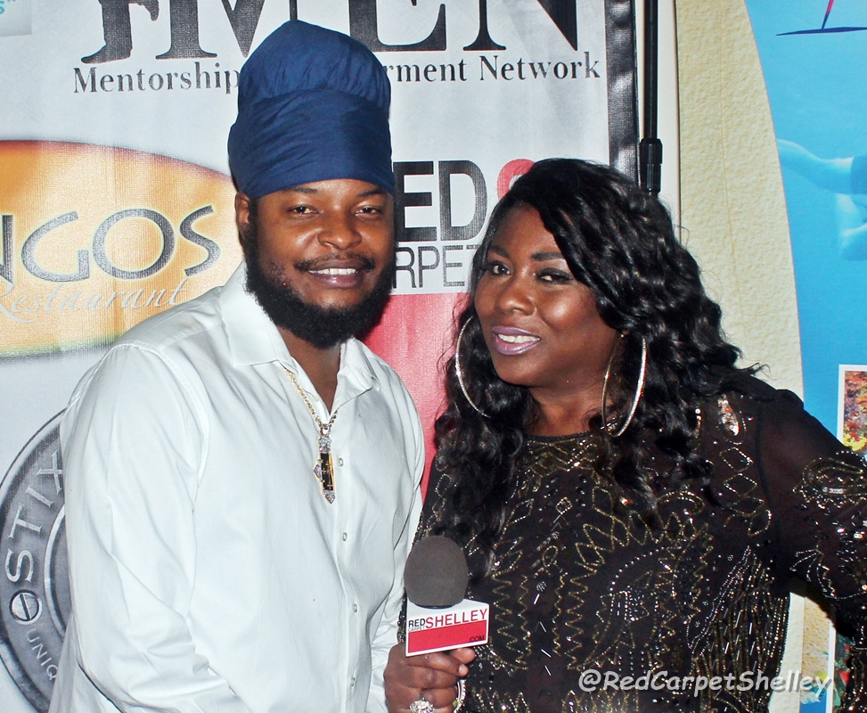 Virgin Islands recording artist Pressure with Red Carpet Shelley