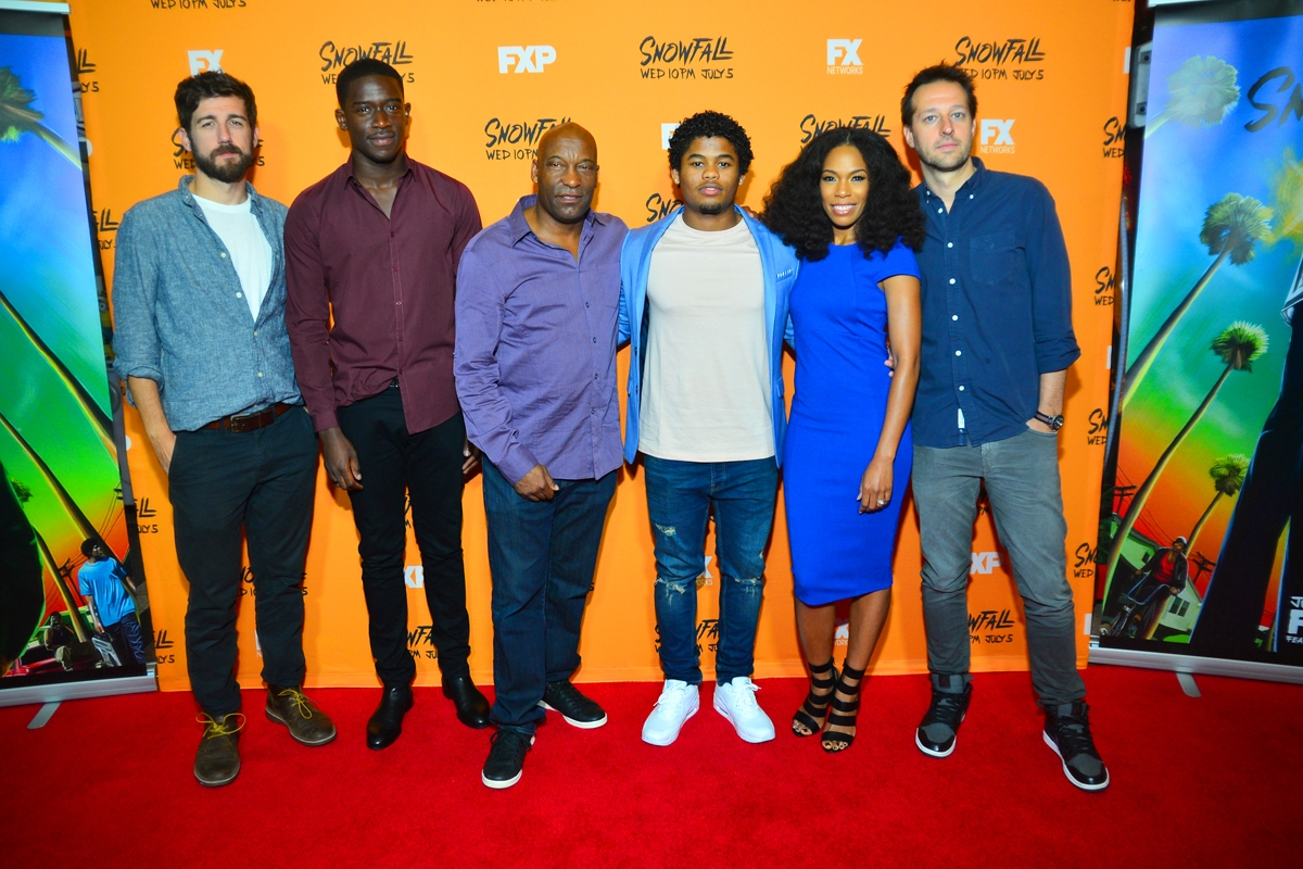 Carter Hudson, Damson Idris, John Singleton, Isaiah John, Angela Lewis, Dave Andron (Photo Credit: James Pray)