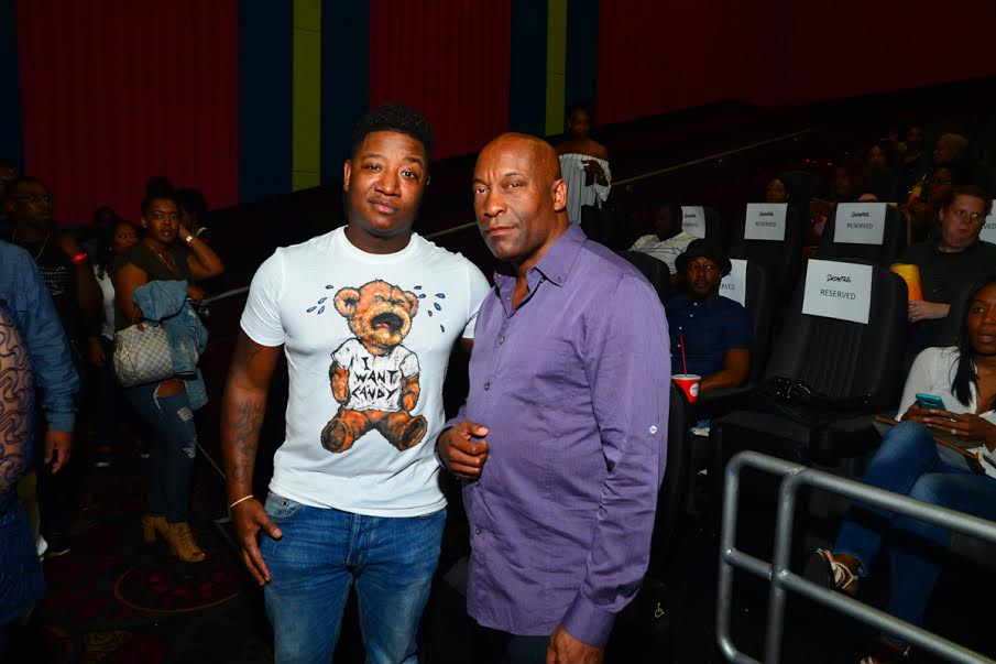 John Singleton (right) with Young Joc (Photo Credit: James Pray)