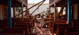 Hurricane Irma destroys church in Anguila. PHOTO: Keiroy Browne Photography