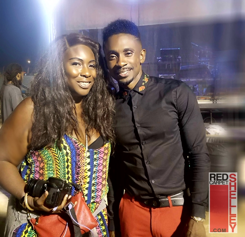 Christopher Martin backstage with Red Carpet Shelley.