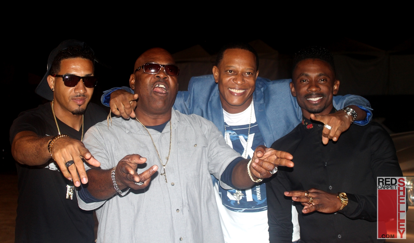 Josey Wales, Tanto Metro and Christopher Martin having fun backstage.