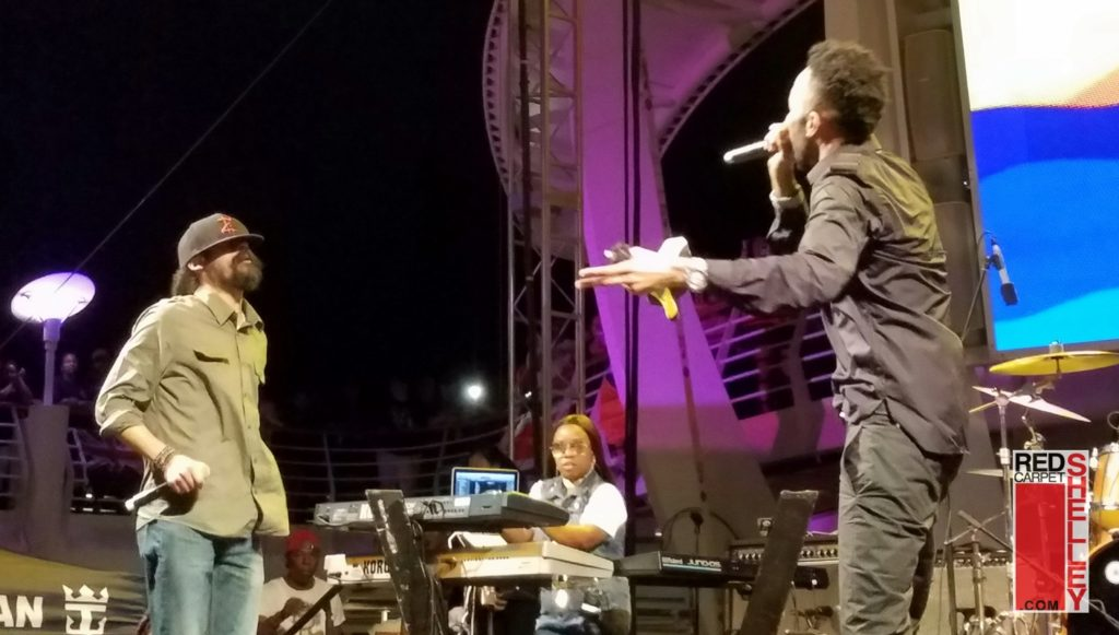 Jr. Gong joins Cham on stage during Welcome to Jamrock Reggae Cruise. PHOTO: redcarpetshelley.com