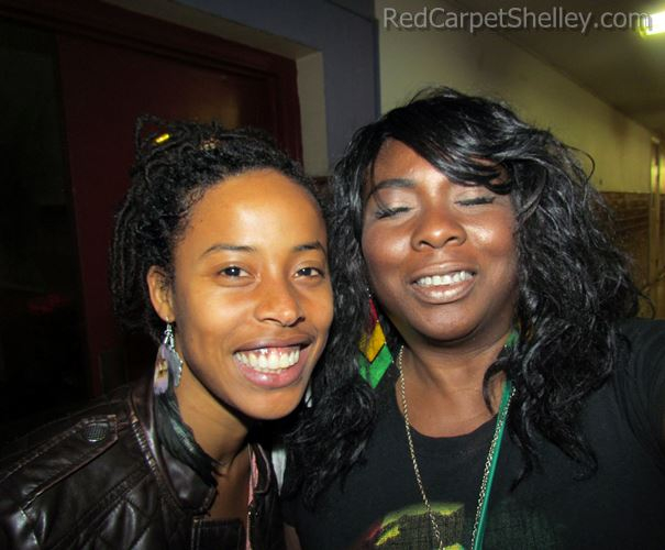 Donisha Prendergast with Red Carpet Shelley.  Photo:  Redcarpetshelley.com