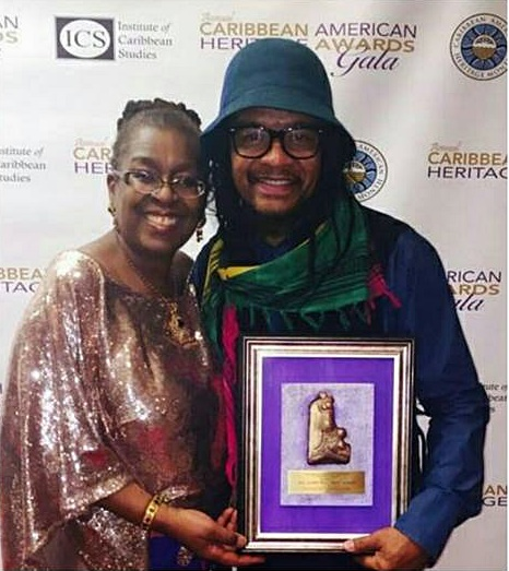 ICS Founder, Dr. Claire Nelson with Maxi Priest, CARAH 2015 Honoree (PHOTO:  Twitter)
