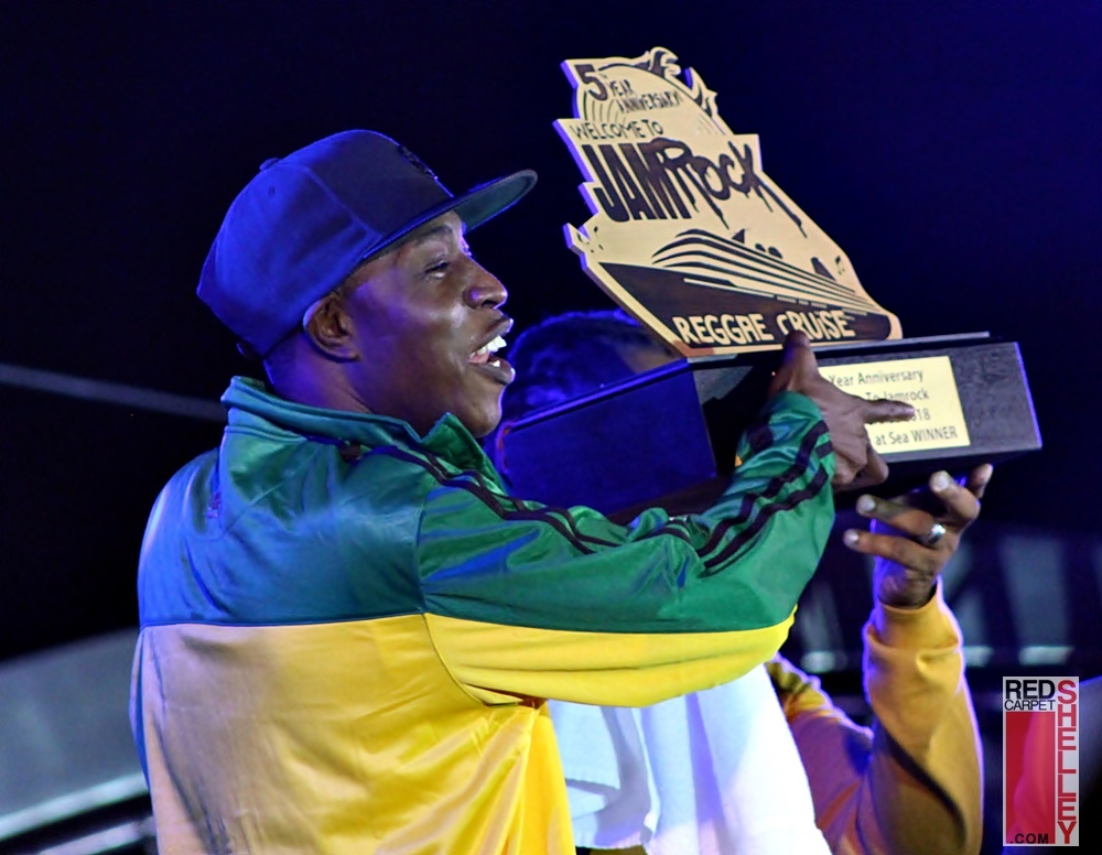 Tony Matterhorn takes home Sound Clash at Sea trophy (Photo: Red Carpet Shelley)