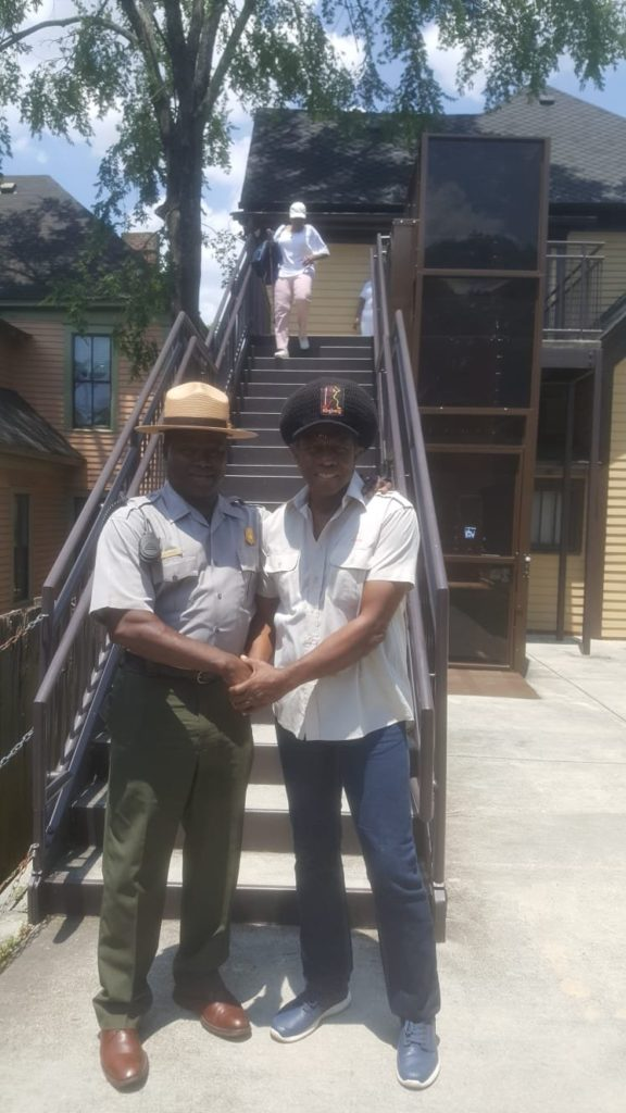 Eddy Grant visits MLK historical sites in Atlanta. Photo: Eddy Grant Twitter