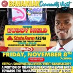 Bahamas Community Night – Hurricane Relief Fundraiser – FRI Nov 8
