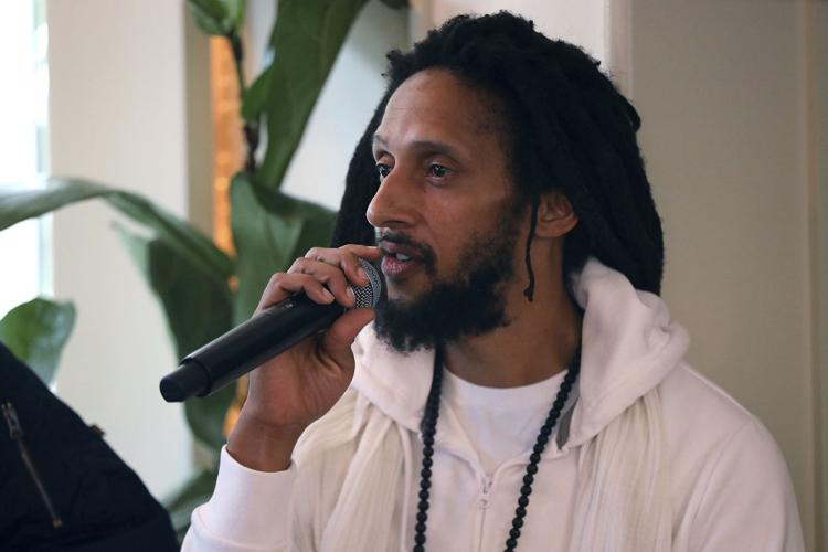Julian Marley participates in the Q&A panel at the Marley Brunch with Marley Family Members at the 1 Hotel West Hollywood on Friday, Jan. 24, 2020, in West Hollywood, Calif. (Photo by Willy Sanjuan/Invision/AP)