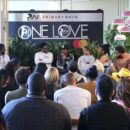Julian Marley, second from left, Rohan Marley, Joshua Omaru Marley, Mystic Marley, Zuri Marley, Nico Marley, Skip Marley and Shacia Marley participate in the Q&A panel at the Marley Brunch with Marley Family Members at the 1 Hotel West Hollywood on Friday, Jan. 24, 2020, in West Hollywood, Calif. Willy Sanjuan/Invision/AP